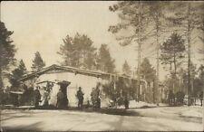 WWI German Soldiers Home Bldg c1915 Real Photo Postcard