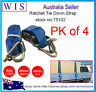 4/PK Ratchet Tie Down(Hook & Keep) 1000Kg x 50mm 6m w Swan Hook,Ratchet Straps