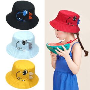 1-4 Years Baby Boy Girls Hats Cotton Summer Sunhat Dinosaur Bucket Hat