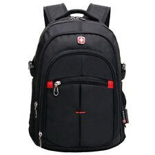 "SwissGear Men Casual Large Capacity Waterproof 15.6"" Laptop Backpack Black"