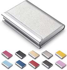 Mazypo Business Card Holder Name Multi Cards Case Silver Luxury Pu Leather Cre