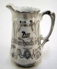 """S.P.M. Sahnekännchen Milchkännchen Porzellan """" Zur Silberhochzeit """" Andenken"""