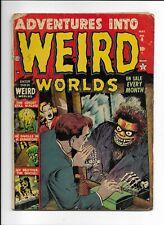 ADVENTURES INTO WEIRD WORLDS #6 => GD- INSANE MONSTER PRE-CODE HORROR ATLAS 1952