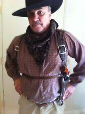 DOC HOLLIDAY SHOULDER HOLSTER CUSTOM HAND TOOLED COWBOY ACTION