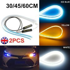 2X Car Sequential LED Strip Turn Signal Indicator DRL Daytime Running Light HOT