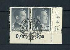 "GG Nr.71 Eckrandpaar r.u. ENTWERFER gestpl. ""MUSZYNA 2.7.1943"" !! (126930)"