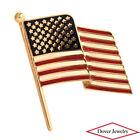 Estate 14K Gold Enameled USA American Flag Pin NR