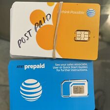 Lot Of 9 At&T 3 Prepaid Oem Factory Nano Size Card 4G Lte Sim Card New 4488a