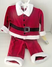 Baby Infant Santa Claus Halloween Suit Outfit Red White Velvet Newborn 0-3 NWT