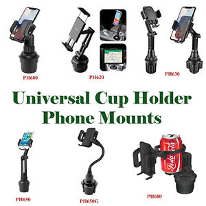 Car Cup Holder Cell Phone Mount Adjustable Cradle Universal for iPhone Samsung