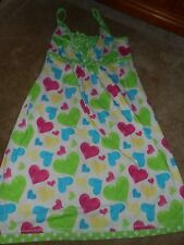 Girls Justice White/Green Hearts Nightgown Size 16/18