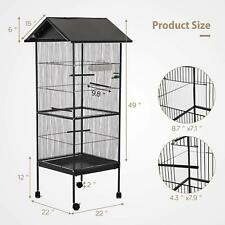 New listing Large Bird Parrot Cage Chinchilla Cockatiel Conure House w/Stand Pet Supply 62''