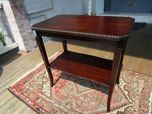 Beautiful Vintage Beaded edge two tier Mahogany Table