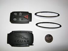 Genuine Jaguar XF XK Smart Key Fob Repair Kit, back cover, pad, chrome, battery