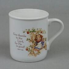 "HALLMARK MUGS ""Give thanks to the Lord, for He is good""  1984 ""  NICE CONDITION"