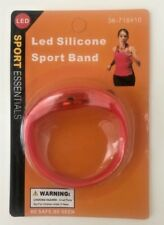 LED Silicone Sport Wrist Band-Motion Sensor Safety Night Light-On and Off Switch