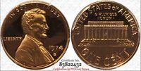 1974-S 1C PCGS PR69RD DCAM Lincoln Cent - RicksCafeAmerican.com