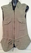 SIZE 10 WOMEN'S KHAKI SLEEVELESS BILLABONG JACKET