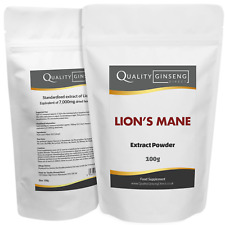 LIONS MANE - 10:1 Extract Powder - Strength & Quality - Choose Pack Size