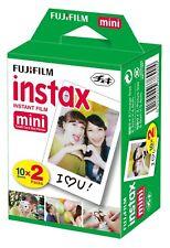 Fujifilm Polaroid Instant Camera Photos Instax Mini Film - 20 Pack Shots NEW