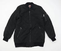 Madison Mens Size M Black Midweight Bomber Jacket