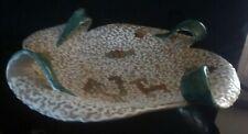 piatto in ceramica Deruta decorato vintage