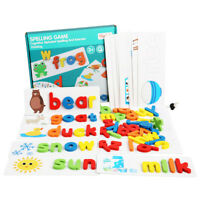 English Spelling Alphabet Game Toy Wooden Cardboard Early Education Educational