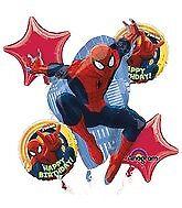 Spiderman Helium Foil Balloon Bouquet 5pk Birthday Party Decorations Centrepiece