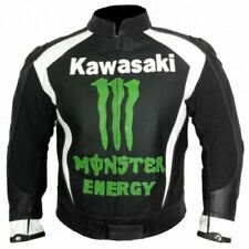 Kawasaki Monster Motorbike Leather jacket Motorcycle Racing Custom Jacket