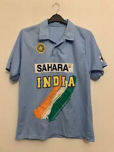 India Cricket Shirt Large Sahara Baby Blue Vintage
