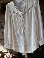 odd molly womens white florl blouse