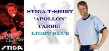 NICE PRICE --> STIGA T-Shirt Apollon, hellblau 100% Baumwolle - neu