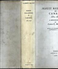 Jesuit relations of Canada 1632-1673 bibliography Mc Coy Arthur Rau 1937 EO n°