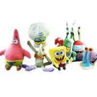 6 Styles SpongeBob SquarePants Patrick Star Squidward Tentacles Plush Doll Toys