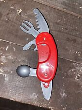 "9 1/2"" BATTAT TOY SWISS ARMY KNIFE FOR MODELING CLAY FIVE CUTTING TOOLS FOLD OUT"