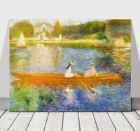 "RENOIR - The Yole - CANVAS ART PRINT POSTER - Boat on Lake - 24x16"""
