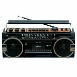 SuperSonic Bluetooth Cassette Player/Recorder Boombox with 3 Band Radio