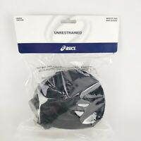 Asics Black Unrestrained Wrestling Ear Guard Unisex One Size ZW352 New