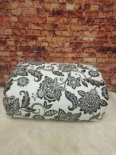 Charter Club Damask Design Black Floral Cotton 2-Pc Twin Comforter Set