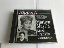 Rapport: Marilyn Maye and Mark Franklin Communicate RARE CD SIGNED [T1]