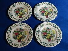ROYAL ACADEMY BONE CHINA QUEEN ANNE 4 BREAD PLATES 6 3/8""