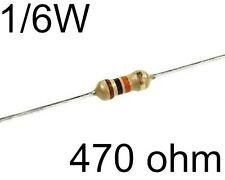 50 Resistenze 470 ohm 1/6watt 5% per diodi led