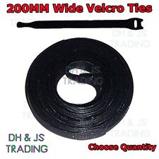 200mm Velcro Cable Ties One Wrap Reusable Cable Tie Wrap Double Sided Strapping