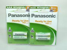 4 x Panasonic Akku AAA  Ni-MH 1,2V 750mAh DECT  ideal für Telefon