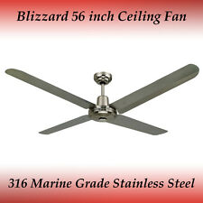 With ceiling fans without light ebay blizzard 316 marine grade stainless steel 1400mm 56 outdoor ceiling fan mozeypictures Choice Image
