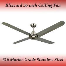 "Blizzard 316 Marine Grade Stainless Steel 1400mm 56"" Outdoor Ceiling Fan"