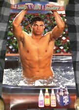 Everclear Purple Passion Wine Beverage 1980'S Sexy Shirtless Guy In Pool Poster