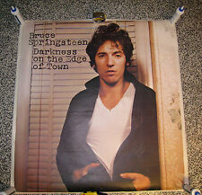 """BRUCE SPRINGSTEEN """"DARKNESS ON THE EDGE OF TOWN"""" GIANT PROMO POSTER BORN TO RUN"""