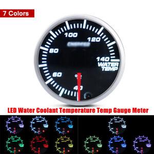 52MM 7 Color Auto ABS&Aluminum LED Water Coolant Temperature Temp Gauge Meter