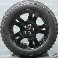 "GENUINE RANGE ROVER L322/ SPORT 19""INCH BLACK ALLOY WHEELS AND MUD T TYRES X4"